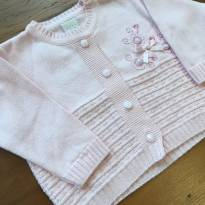 Cardigan Rosa Claro Tricot - 3 a 6 meses - millybaby