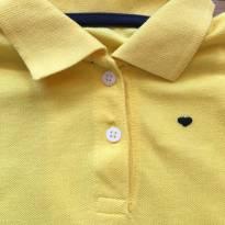 Vestido Amarelo gola polo - 6 a 9 meses - Hering Kids