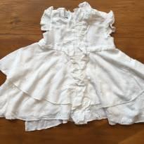 Vestido Branco com babado - 9 a 12 meses - Tyrol