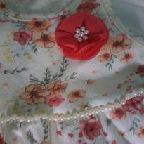 Vestido com estampa de flor - 9 meses - Kyly