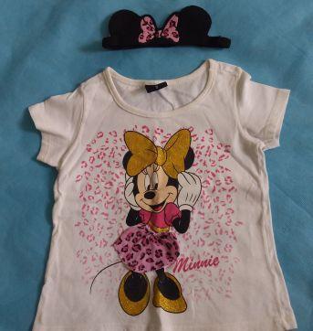 Camiseta Minnie Mouse e Tiara - 2 anos - Disney