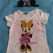 Camiseta Minnie Mouse e Tiara