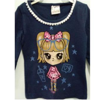Camiseta Infantil Menininha - 3 anos - nanny