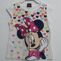 Camiseta Minnie Mouse com Gliter - 2 anos - Disney