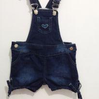 Jardineira Infantil Jeans - 3 anos - Não informada