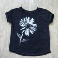 camiseta oshkosh estampa floral aquarela 18m - 18 meses - OshKosh