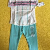 Conjuntinho lindo de calca e blusa - 18 meses - OshKosh