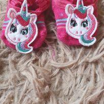 Meia pucket unicornio - 0 a 3 meses - Puket