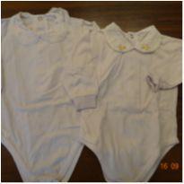 Kit com 2 bodys pala bordada - 3 a 6 meses - Divino Bebê