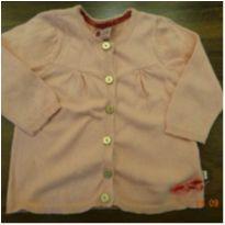 Casaco tricô rosa - 3 a 6 meses - Teddy Boom