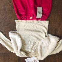 Conjunto saia e blusa com colete , com etiqueta. - 2 anos - Nick