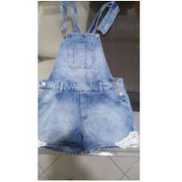 jardineira jeans - tam 11 -12 ( veste 06 - 07 anos de idade ) NOVO - 7 anos - Fuzarka