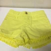 Shorts fashion amarelo - 6 anos - Animê