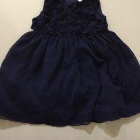 Vestido de festa Carters azul marinho - 9 a 12 meses - Carter`s