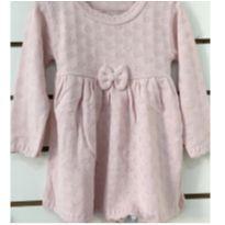 Vestido rosa com corações - 2 anos - Não informada