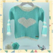 Blusa/malha de Tricot coração - 10 anos - Não informada