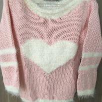 Blusa/ malha de Tricot coração - 2 anos - Não informada