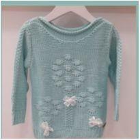 Blusa/malha de Tricot flores - 6 anos - Não informada