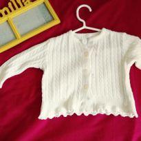 Casaquinho para bebê - 9 a 12 meses - Paola tricot