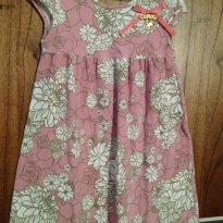 Vestido estampado rosê Quimby Tam 4 - 4 anos - Quimby