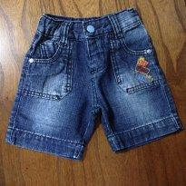 Bermuda jeans Parizi tam G - 9 a 12 meses - Parizi