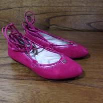 Sapatilha de amarrar pink Molekinha tam 28 - 28 - Molekinha