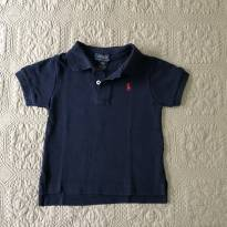 Camisa polo azul marinho Ralph Lauren tam 12 meses - 1 ano - Ralph Lauren