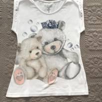 Blusa ursinho tam 8 Carinhoso - 8 anos - Carinhoso