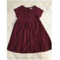 Vestido plissado de poá H&M tam 7-8 - 7 anos - H&M