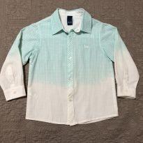 Camisa xadrez verde claro tam 3 - 3 anos - 1+1