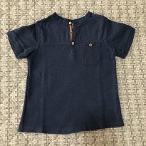 Blusa azul com botões Zara tam 5 - 5 anos - Zara