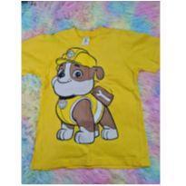 Camiseta Amarela Tamanho 6 Patrulha Canina - 6 anos - Não informada