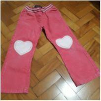 Calça rosa em camurça - 5 anos - Mini boden