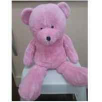 Ursinho pelúcia rosa -  - Não informada