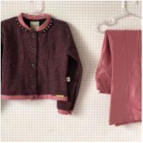 Conjunto com calça fleur e jaqueta - 6 anos - Kiki Xodó