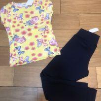 Conjunto de legging e blusinha - 4 anos - Fakini