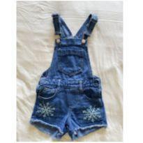 Jardineira jeans Frozen - 6 anos - Palomino