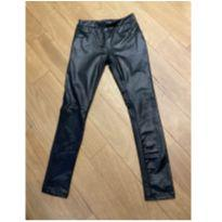 Calça legging de cirre (imita couro) - 7 anos - Não informada