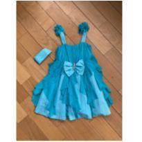 "Vestido ""tudo azul"" - 8 anos - 123 Já"