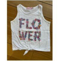 Blusa flower de amarrar - 6 anos - Figurinha