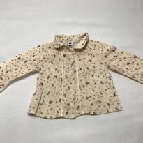 Camisa Social Estampada com Flores - 3 a 6 meses - A Baby