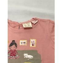 Camiseta Zara Baby Girl Manga Longa Rosa - 3 a 6 meses - Zara Baby