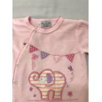 Macacão Rosa Rock a Bye Baby Elefante - 3 a 6 meses - Outra