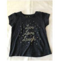 Camiseta manga Curta Live Love Laugh - 24 a 36 meses - Young dimension