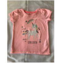 Camiseta Rosa com Estampa de Unicornio - 24 a 36 meses - Young dimension