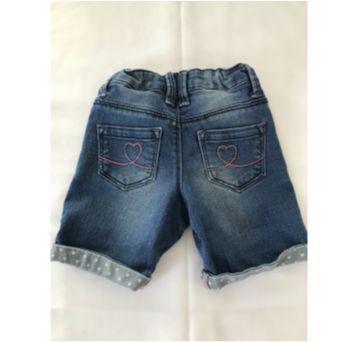 Bermuda Jeans - 24 a 36 meses - Denim