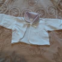 blusinha branca com golinha rosa - 0 a 3 meses - Radani