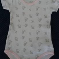 Body Branco com detalhes em rosa - 6 meses - Chicco