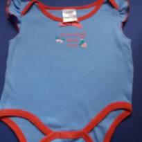 """body azul com debrum vermelho """" mommy and me"""" - 6 a 9 meses - baby gear (EUA)"""