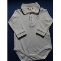 body branco com debrum marinho e aplicação de coelhinho - Recém Nascido - Baby Cottons